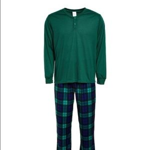 Men's Pajama Set Plaid